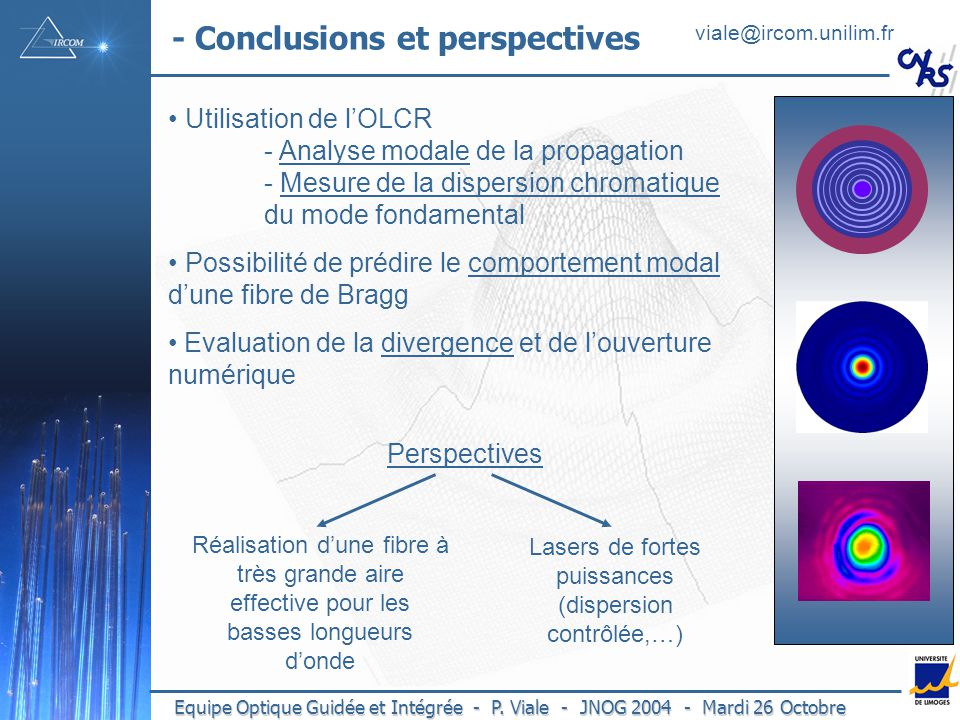 - Conclusions et perspectives