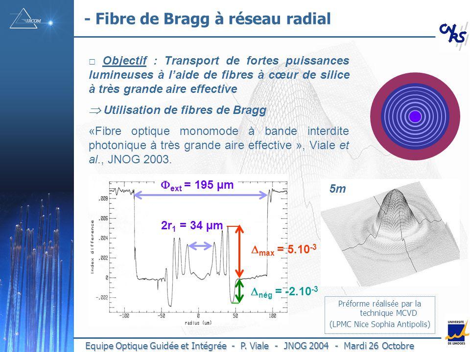 - Fibre de Bragg à réseau radial