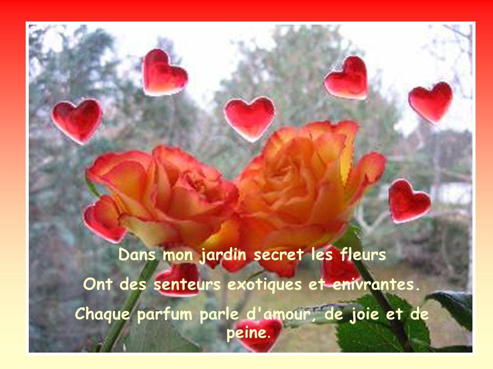 Dans mon jardin secret les fleurs