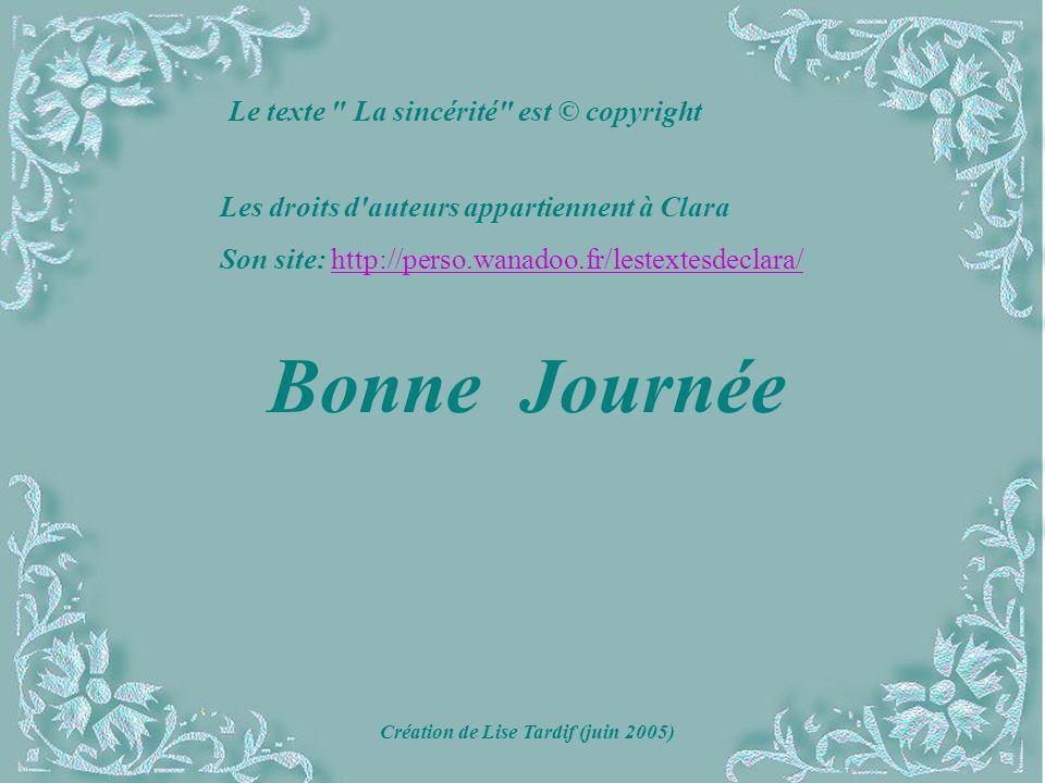 Création de Lise Tardif (juin 2005)