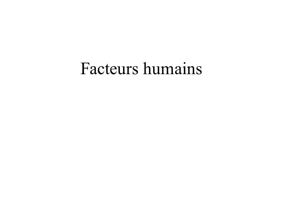 Facteurs humains