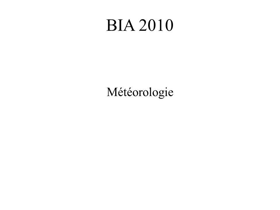 BIA 2010 Météorologie
