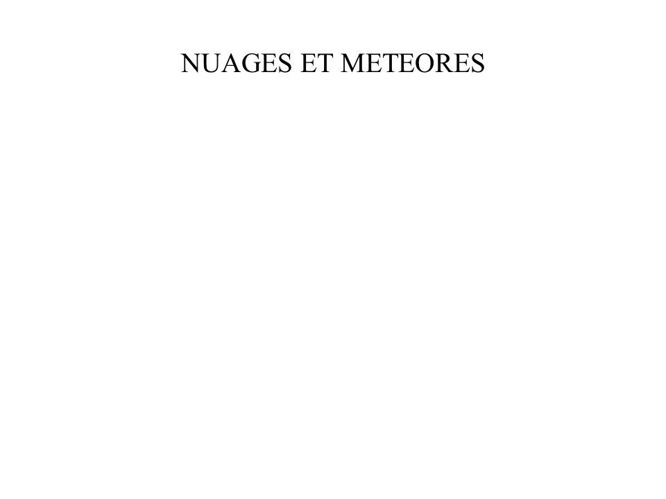 NUAGES ET METEORES