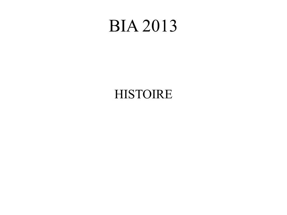 BIA 2013 HISTOIRE