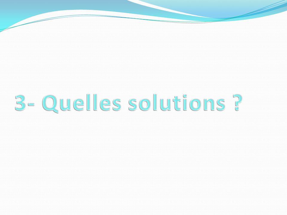 3- Quelles solutions