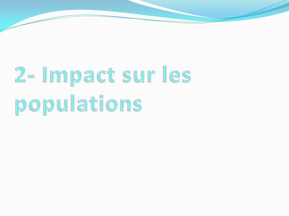 2- Impact sur les populations