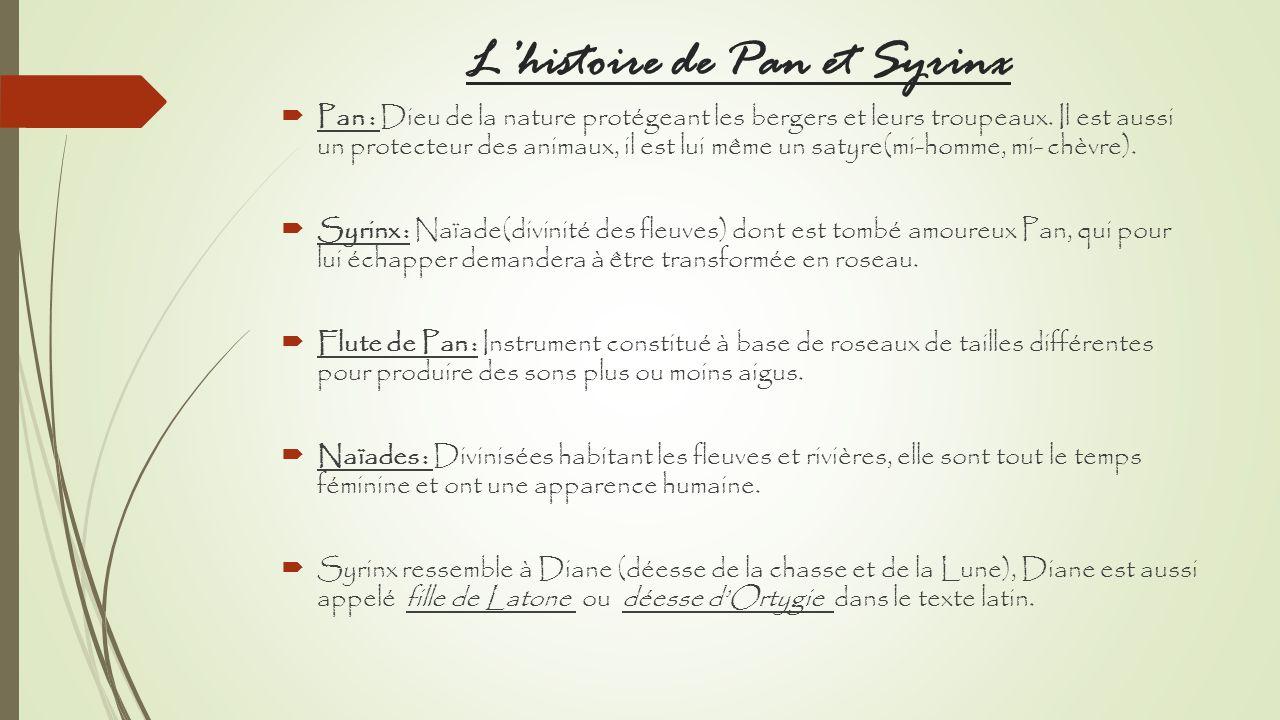 L'histoire de Pan et Syrinx