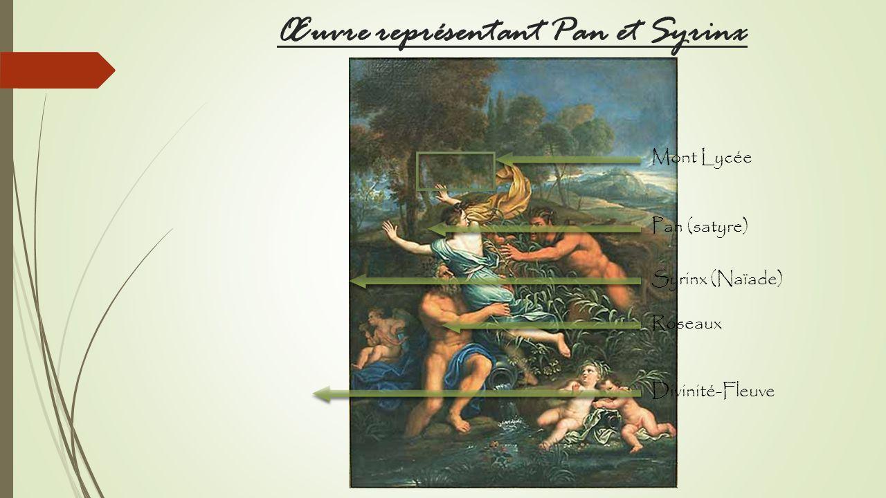 Œuvre représentant Pan et Syrinx