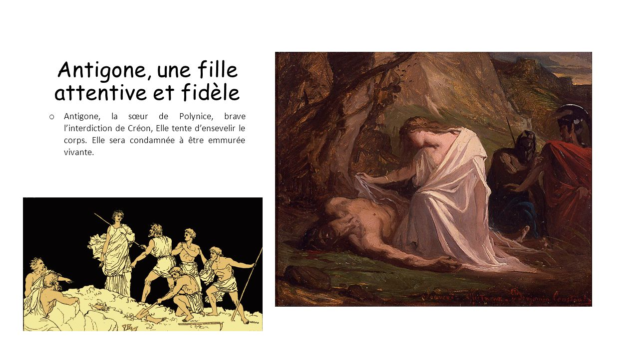 Antigone, une fille attentive et fidèle