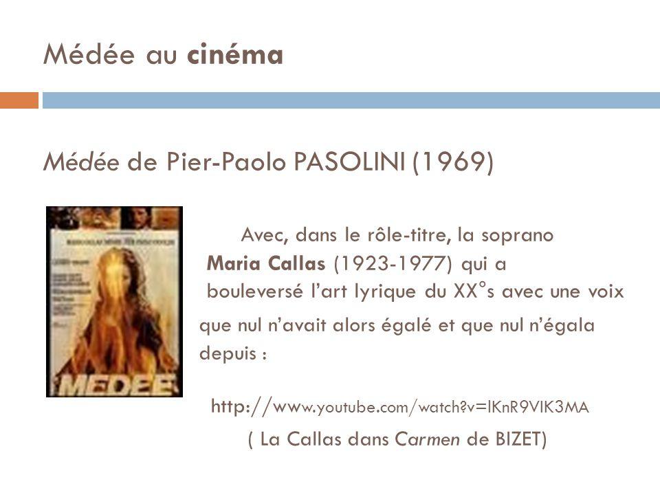 Médée au cinéma Médée de Pier-Paolo PASOLINI (1969)