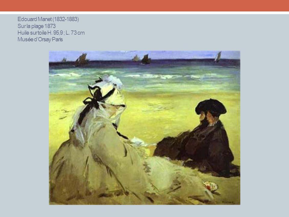 Edouard Manet (1832-1883) Sur la plage 1873 Huile sur toile H. 95,9 ; L. 73 cm Musée d'Orsay Paris