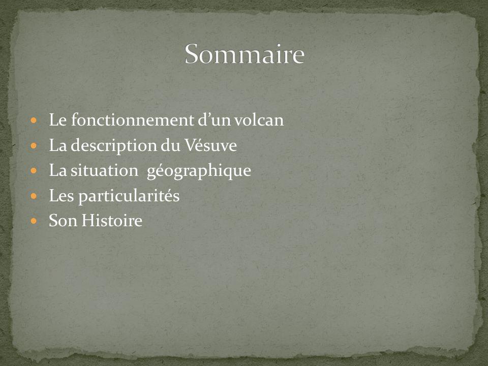Sommaire Le fonctionnement d'un volcan La description du Vésuve