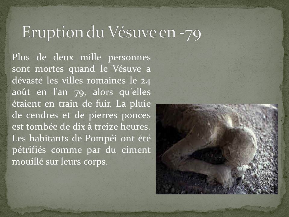 Eruption du Vésuve en -79