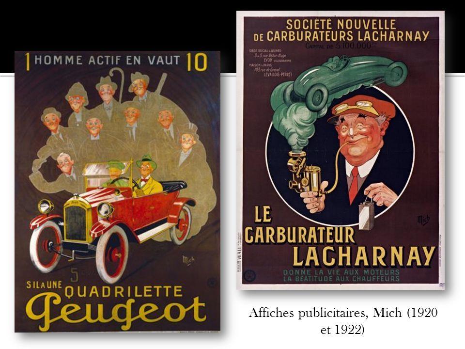 Affiches publicitaires, Mich (1920 et 1922)