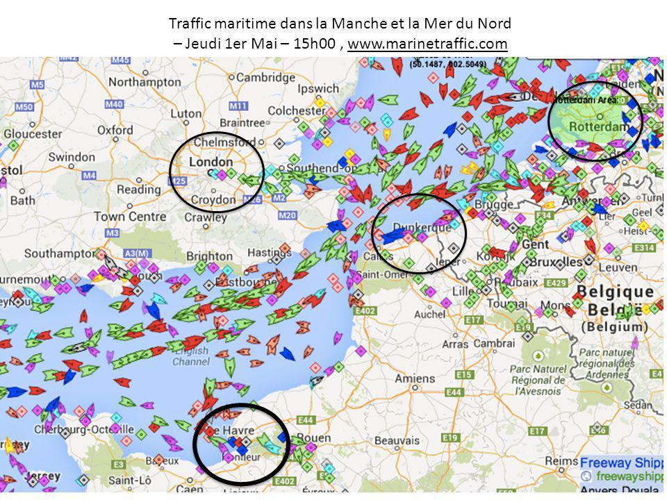 Traffic maritime dans la Manche et la Mer du Nord