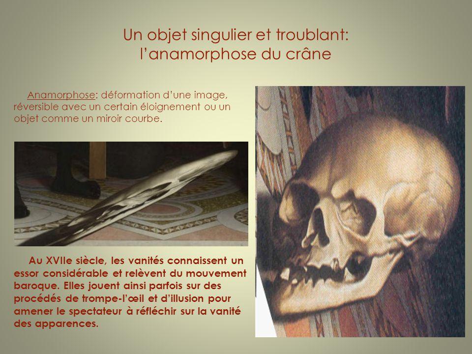 Un objet singulier et troublant: l'anamorphose du crâne