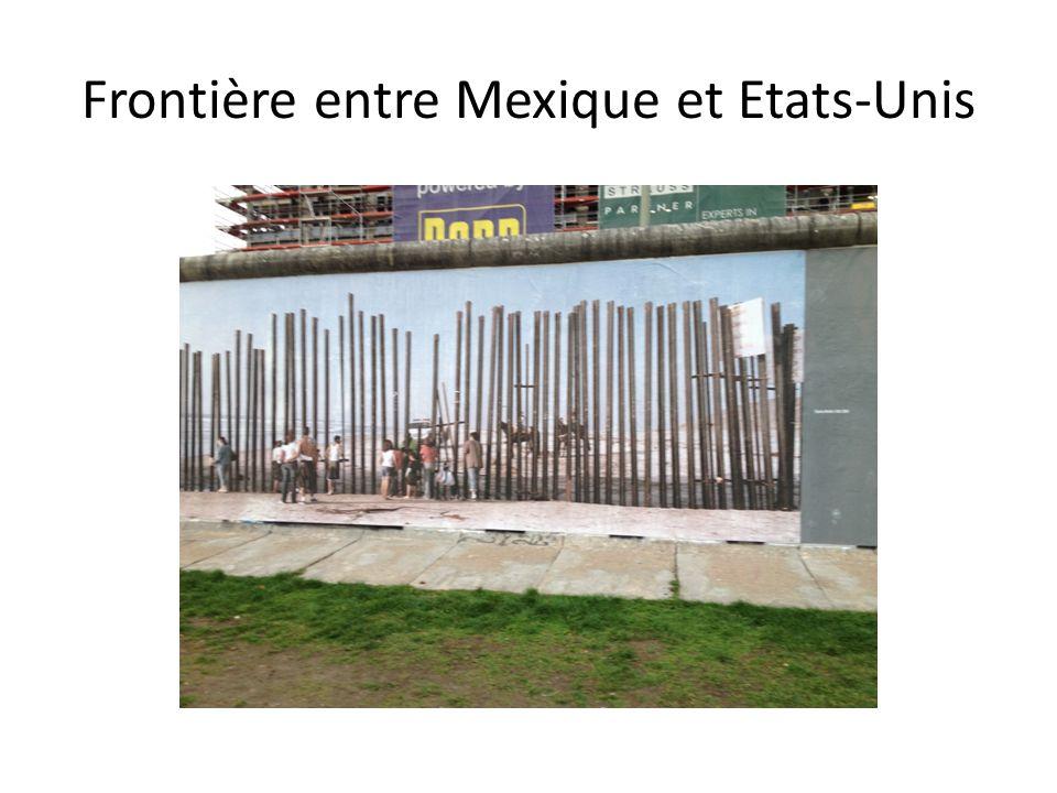 Frontière entre Mexique et Etats-Unis