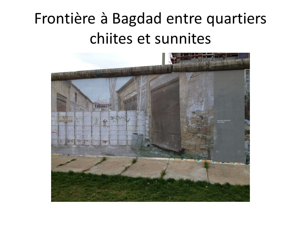 Frontière à Bagdad entre quartiers chiites et sunnites