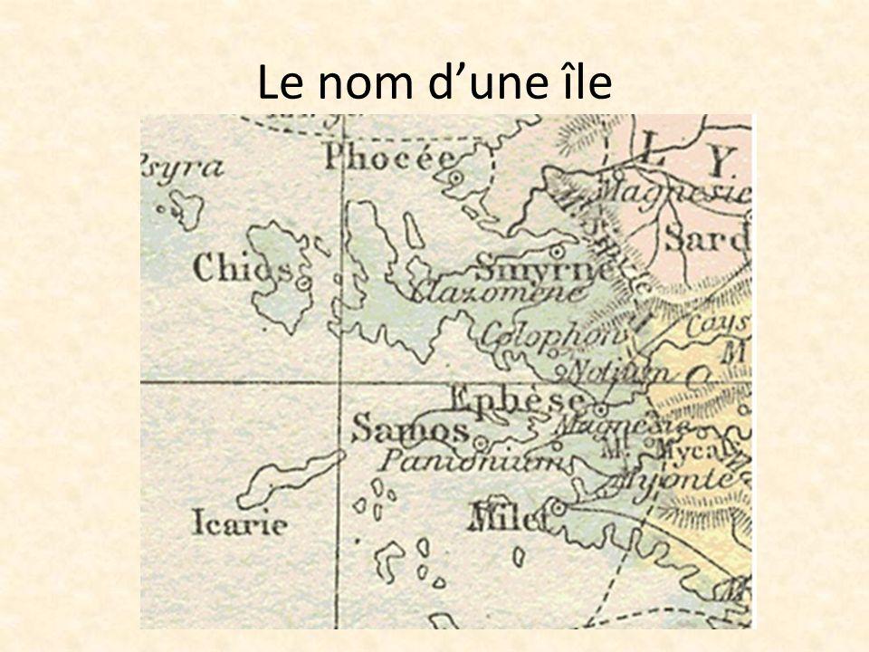 Le nom d'une île