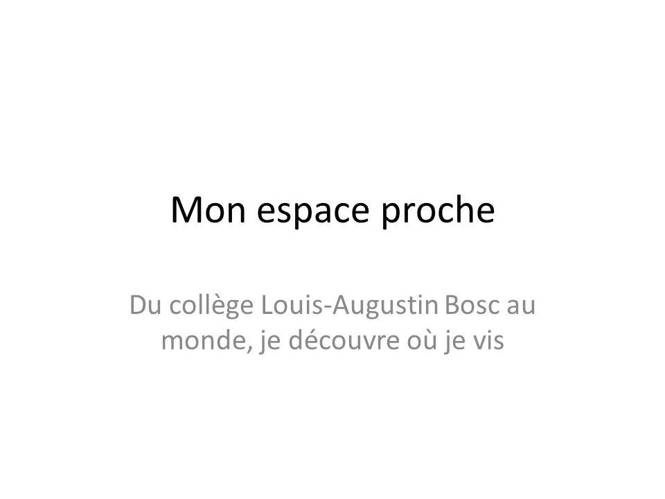Du collège Louis-Augustin Bosc au monde, je découvre où je vis