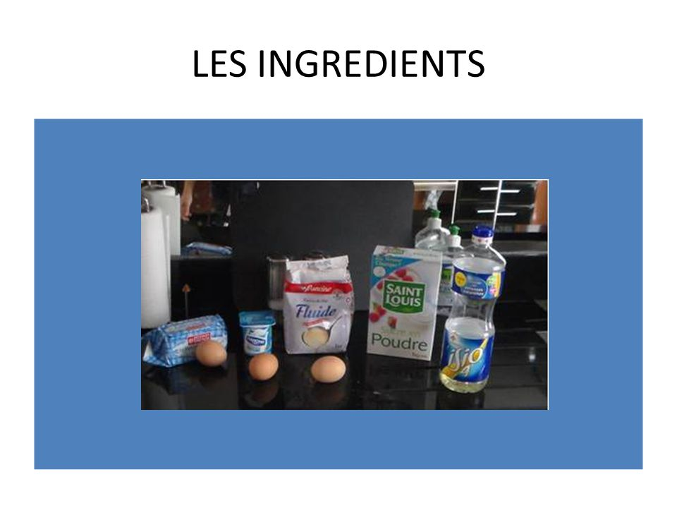 LES INGREDIENTS