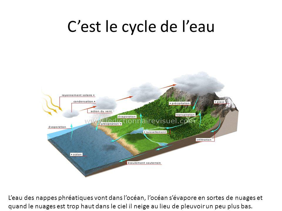 C'est le cycle de l'eau