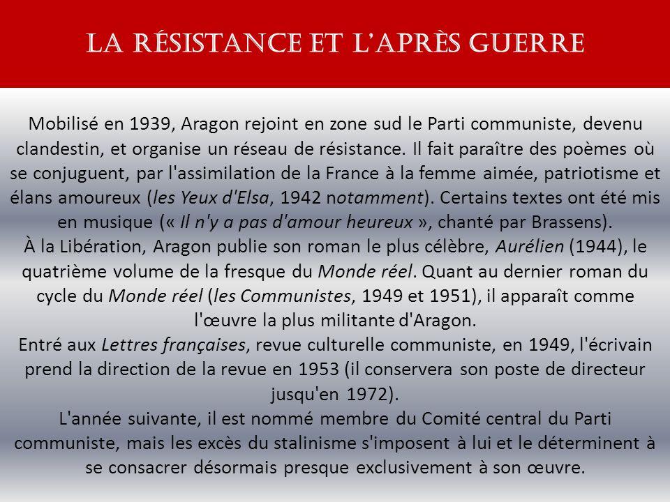 la résistance et l'après guerre