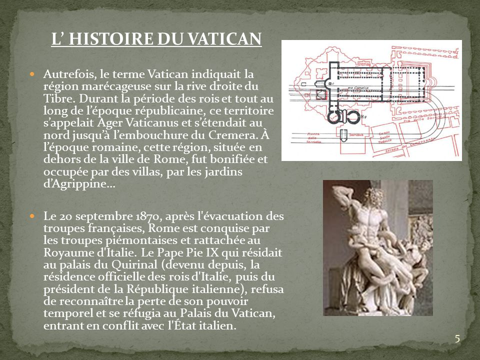 L' HISTOIRE DU VATICAN