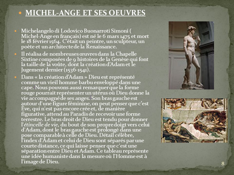 MICHEL-ANGE ET SES OEUVRES