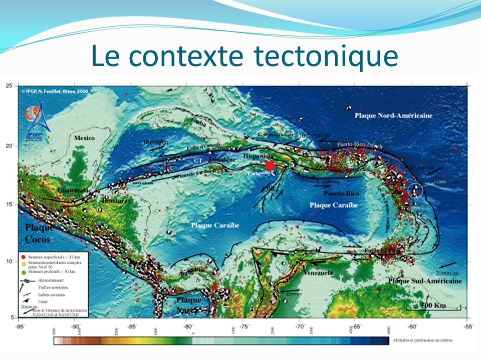 Le contexte tectonique