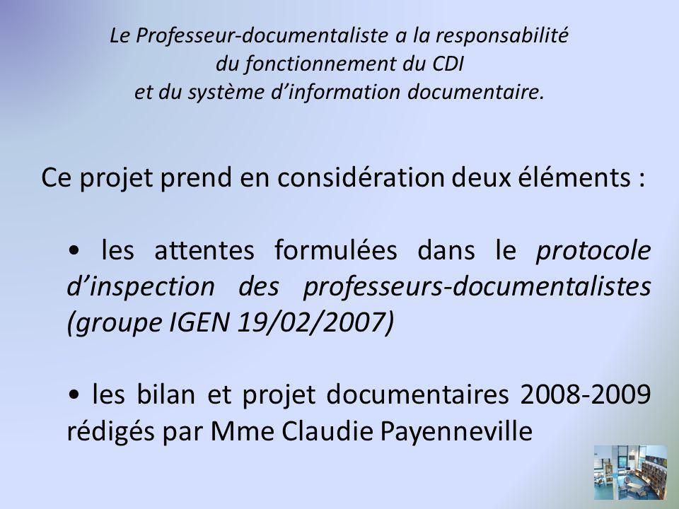 Le Professeur-documentaliste a la responsabilité du fonctionnement du CDI et du système d'information documentaire.