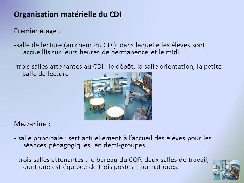 Organisation matérielle du CDI