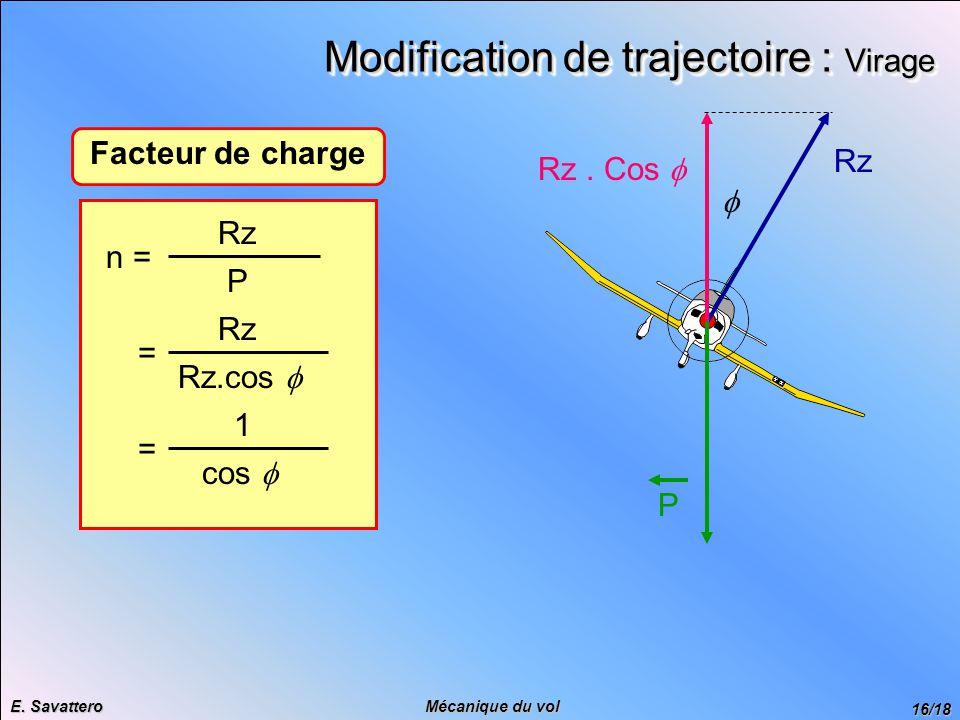 Modification de trajectoire : Virage