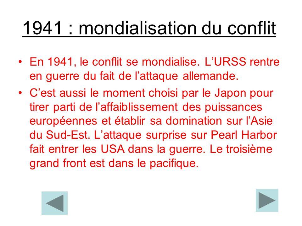 1941 : mondialisation du conflit