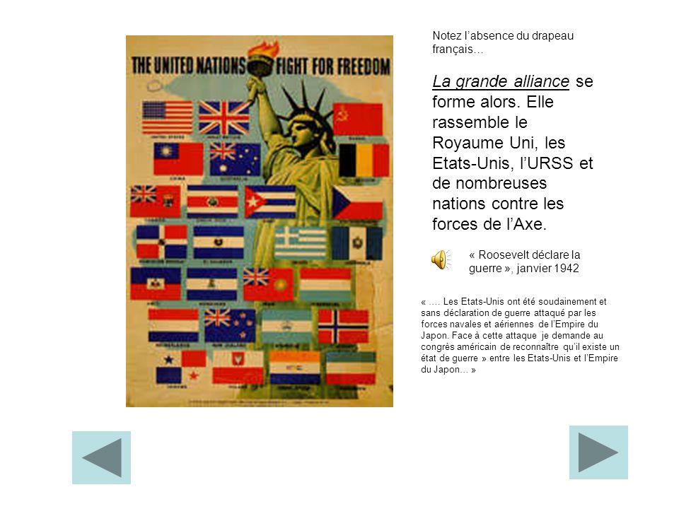 Notez l'absence du drapeau français…