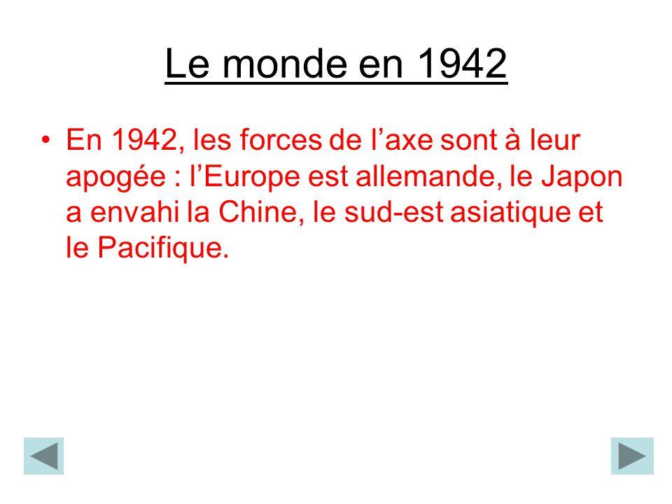 Le monde en 1942