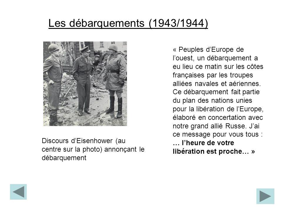 Les débarquements (1943/1944)