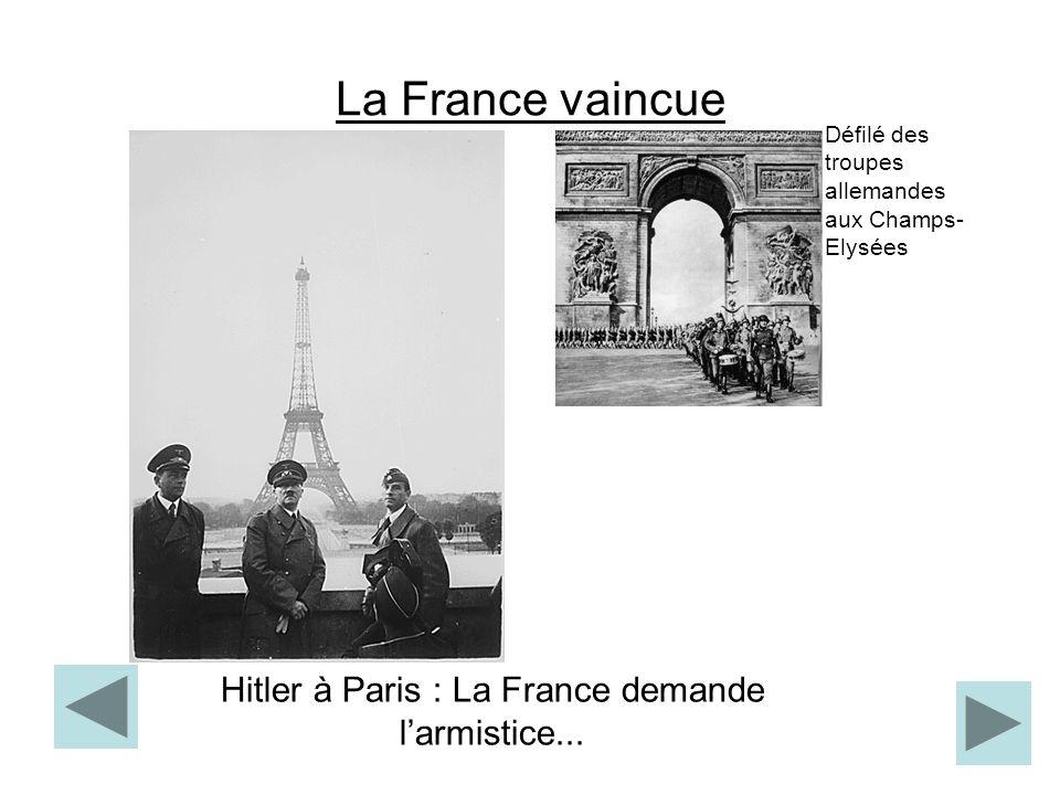 Hitler à Paris : La France demande l'armistice...
