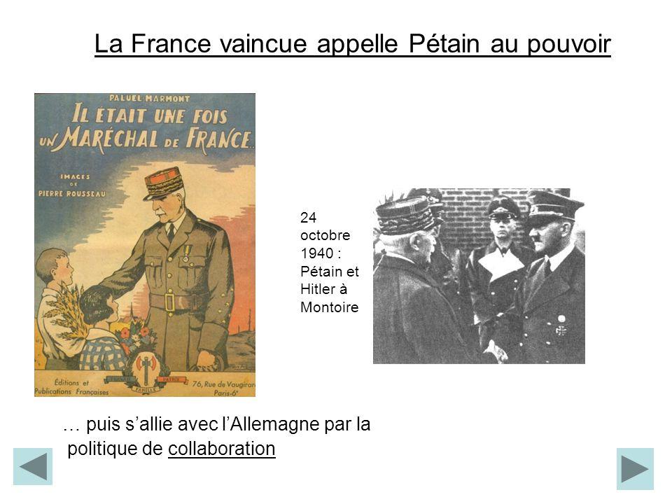 La France vaincue appelle Pétain au pouvoir