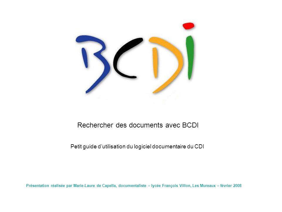 Rechercher des documents avec BCDI