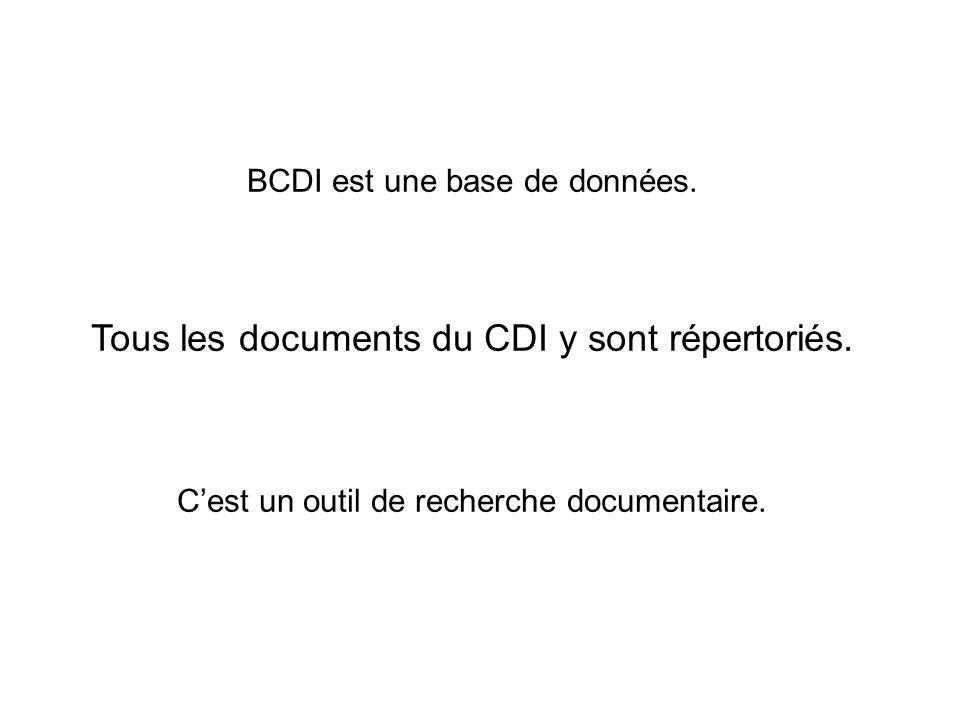 Tous les documents du CDI y sont répertoriés.