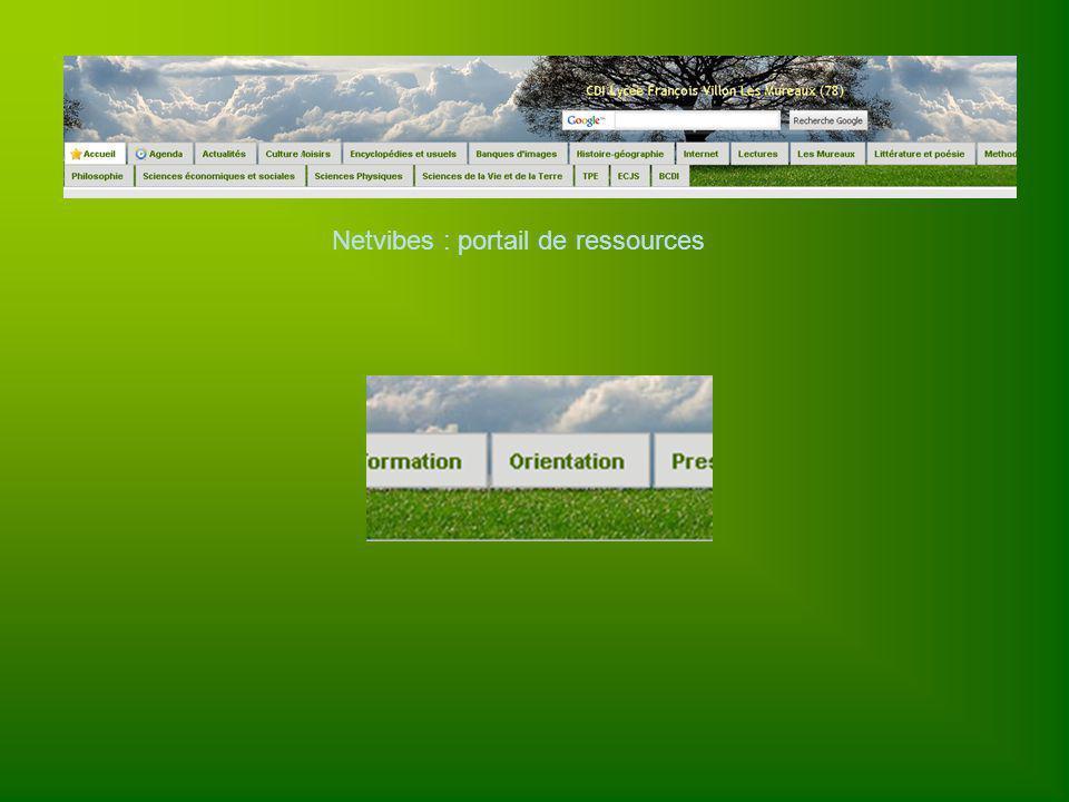 Netvibes : portail de ressources