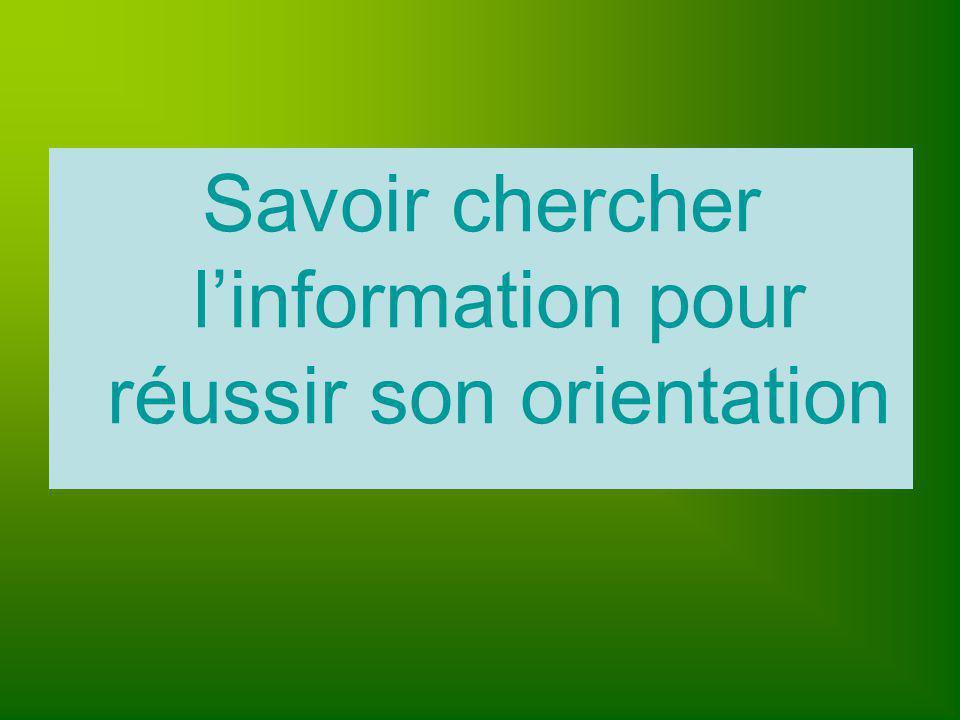 Savoir chercher l'information pour réussir son orientation
