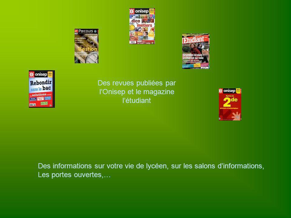 Des revues publiées par l'Onisep et le magazine l'étudiant
