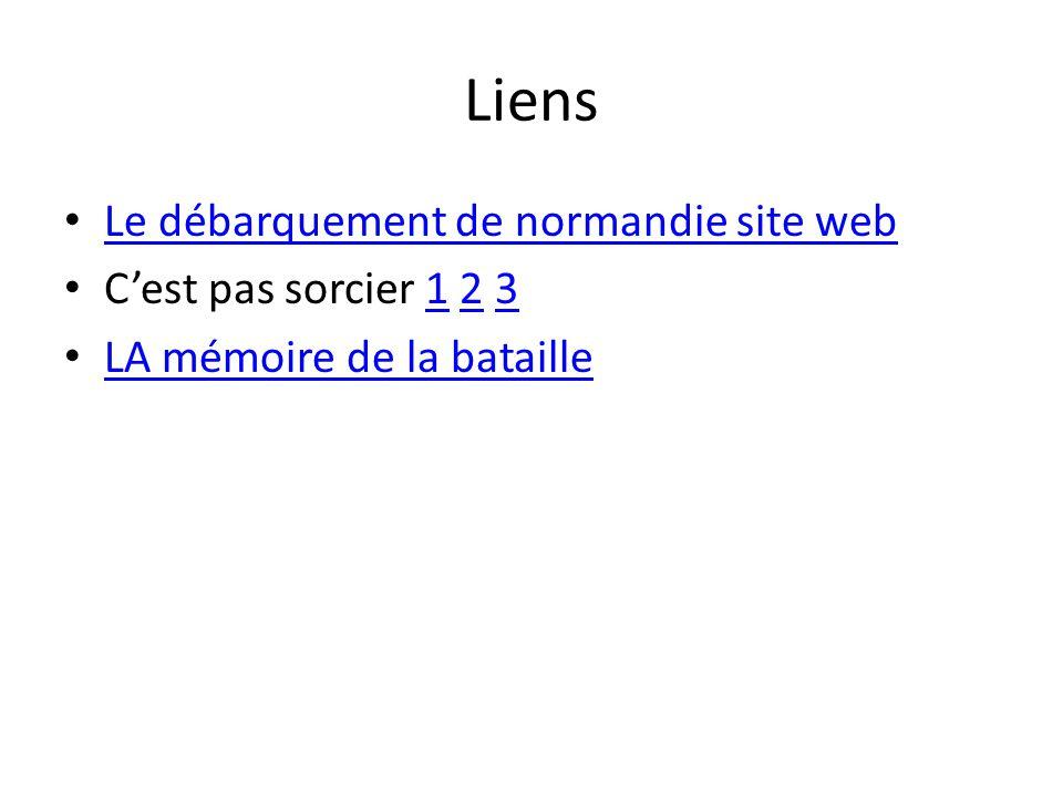 Liens Le débarquement de normandie site web C'est pas sorcier 1 2 3