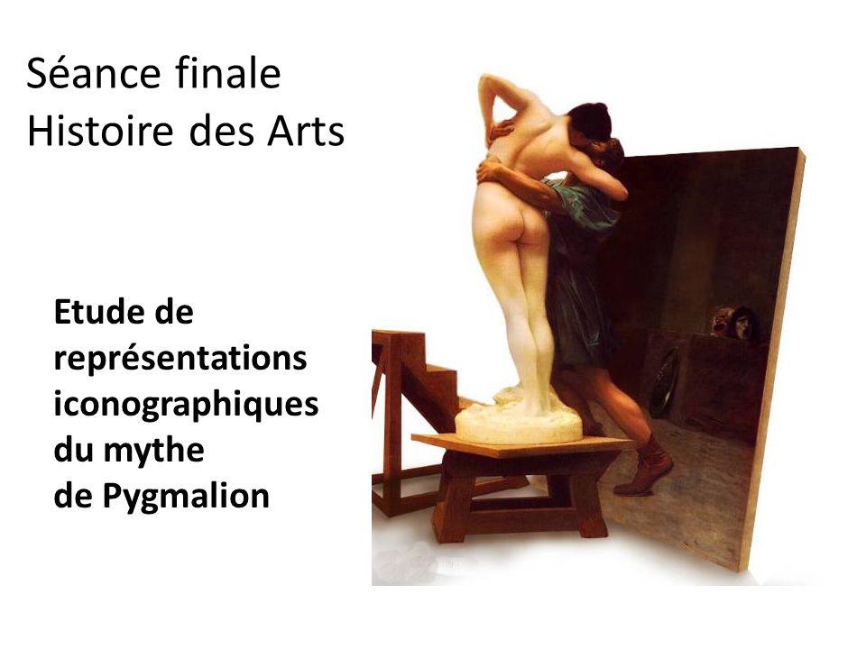 Etude de représentations iconographiques du mythe de Pygmalion
