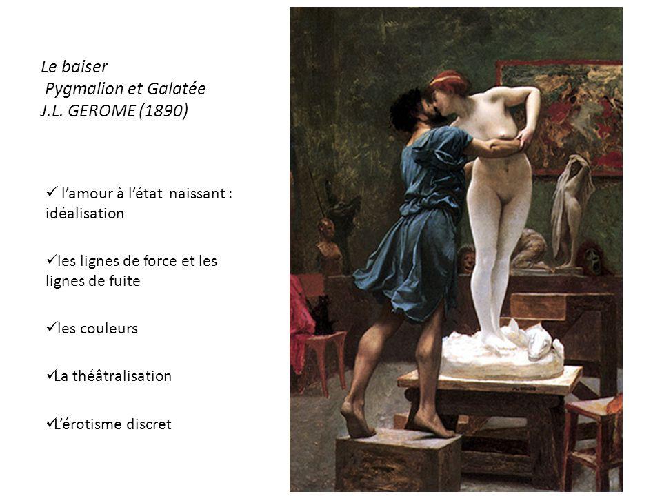 Le baiser Pygmalion et Galatée J.L. GEROME (1890)