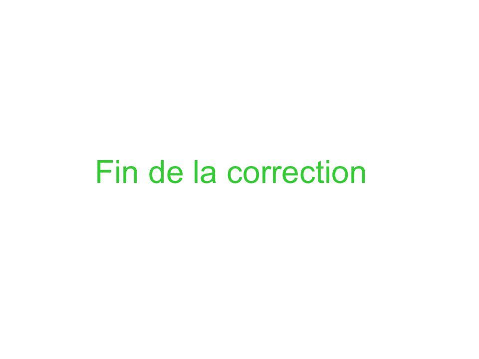 Fin de la correction