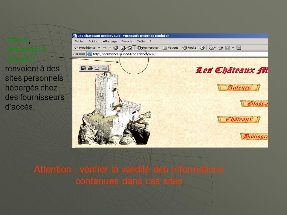 free. fr,. wanadoo. fr,. tiscali