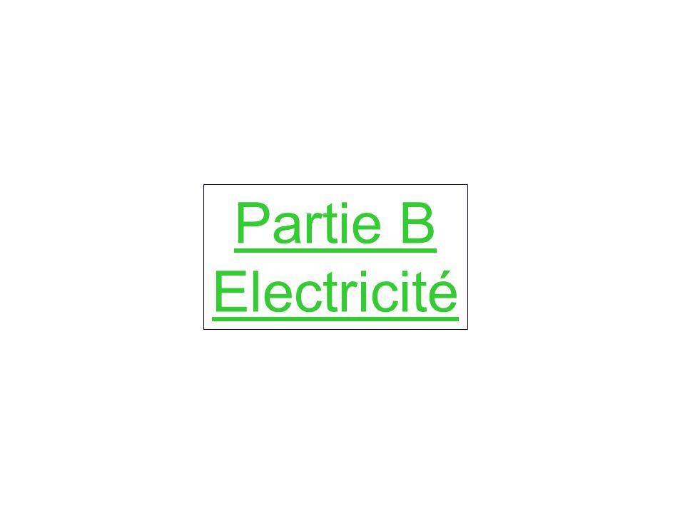 Partie B Electricité